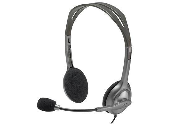 sluchawki call centre skype stereo h110 logitech